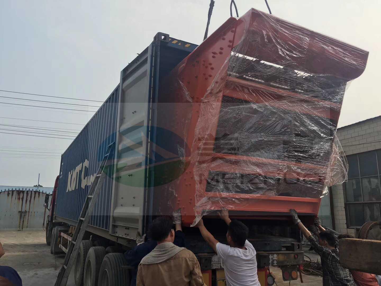 祝贺我司出口印尼的碎石生产线成功装箱启程!